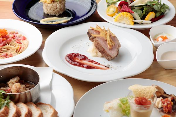 自慢の地元野菜が入ったイタリアン5,000円コース(4名様から)